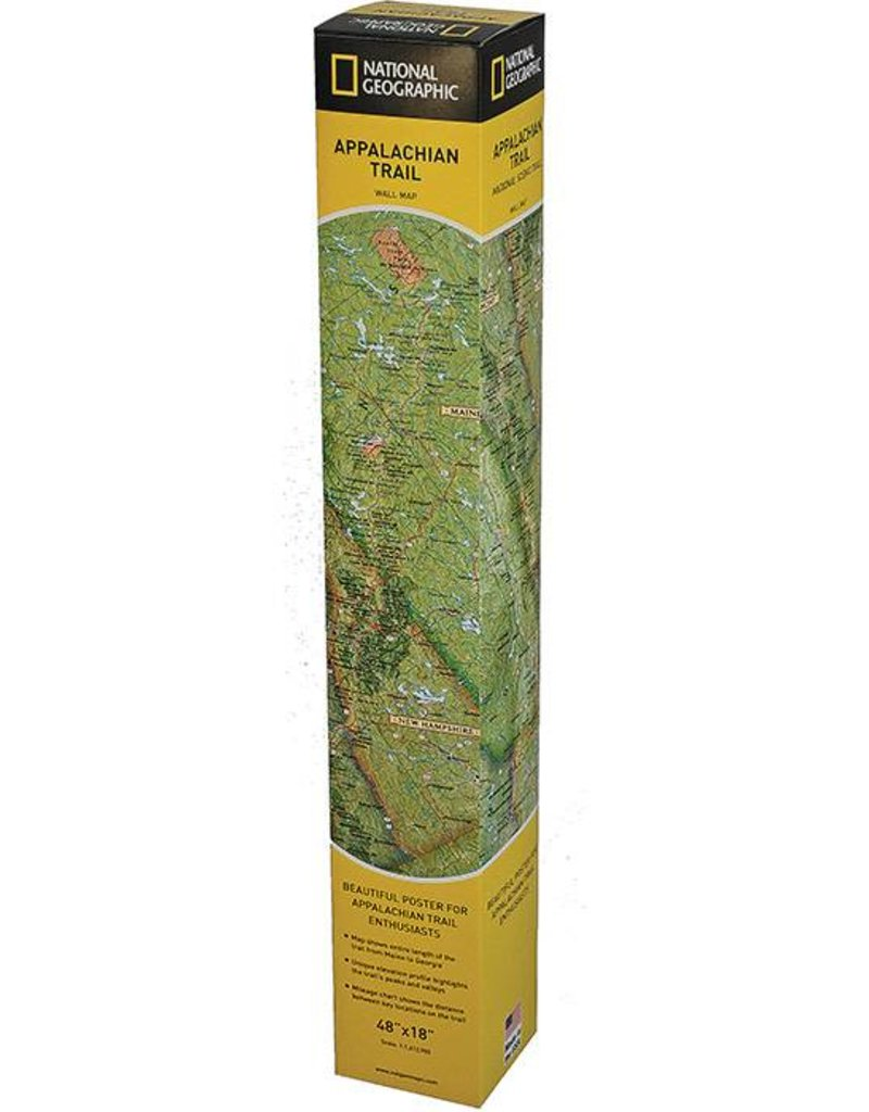 NATIONAL GEOGRAPHIC APPALACHIAN TRL WALL MAP BOXED