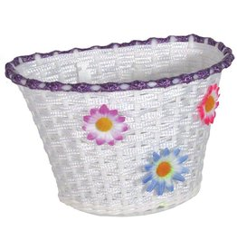 ACTION ACTION Basket plastic deluxe small white w/ flowers