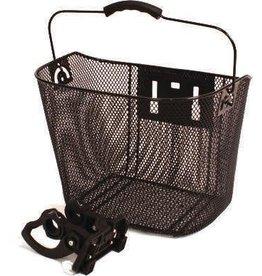 "ALTAIR ALTAIR basket black mesh w/ handle 13.5X10X10"""