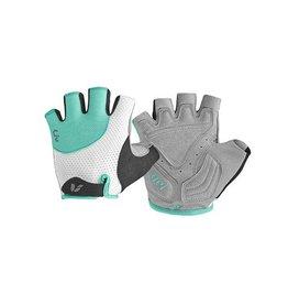 Liv LIV Passion Short Finger Gloves MD White/Aqua