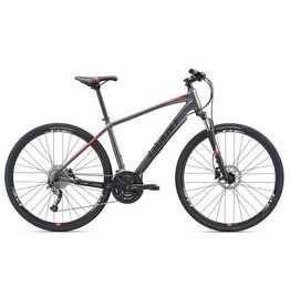 Giant Roam 2 Disc S Matte Charcoal/Neon Red
