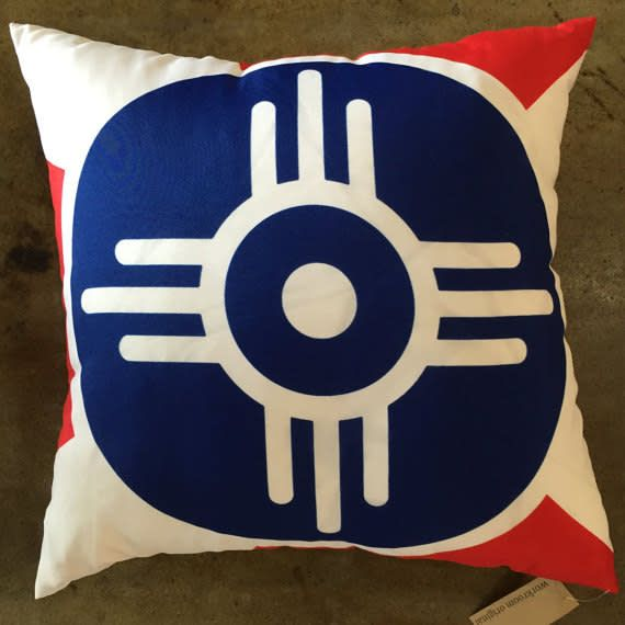 The Workroom Wichita Flag Pillow