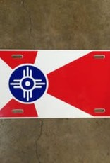 The Workroom Wichita Flag License Plate