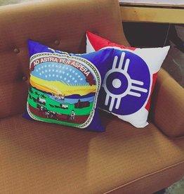The Workroom Kansas Flag Pillow