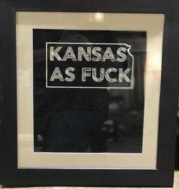 "Harris & Co. Frame Shop Kansas As F*ck Framed 20"" X 21.5"""