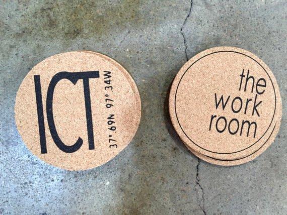 The Workroom Round Cork ICT Coasters