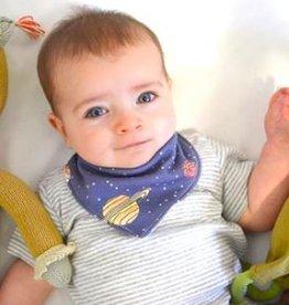 Lavender & Clover Illustrated Bandana Baby Bib
