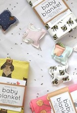 Lavender & Clover Illustrated Baby Blanket