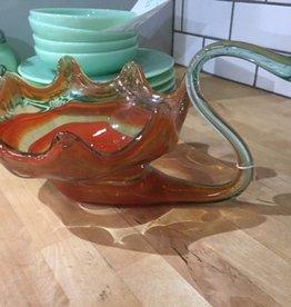 The Workroom Art Glass Swan