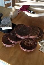 Billie Frank Studios Leather Coaster Set of 4