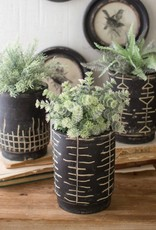The Workroom Black and White Clay Planters
