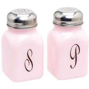 Mosser Glass Glass Salt & Pepper Shakers Monogrammed