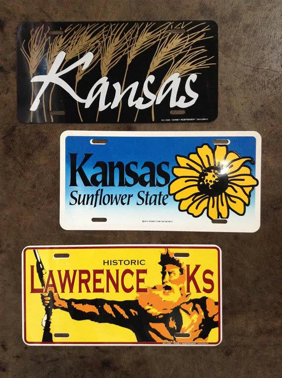 Justin Shiney Kansas Wheat License Plate