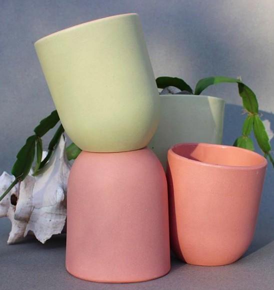 Del Norte Design Handmade Ceramic Slant Cups