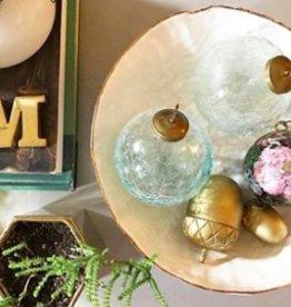 Sarah Zepick Pottery White Gold Rimmed Pasta Bowls