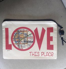 Julio Designs Love This Place zip bag