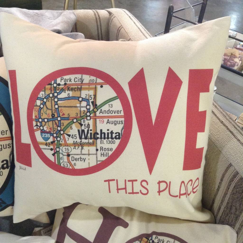 "Julio Designs ""Love"" 16' Square Pillow"