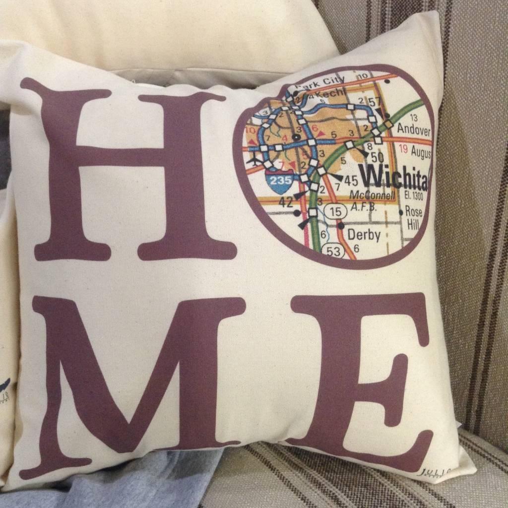 """Julio Designs """"Home"""" 16"""" Square Pillow"""