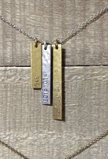 Julio Designs Hammered Bar Necklace