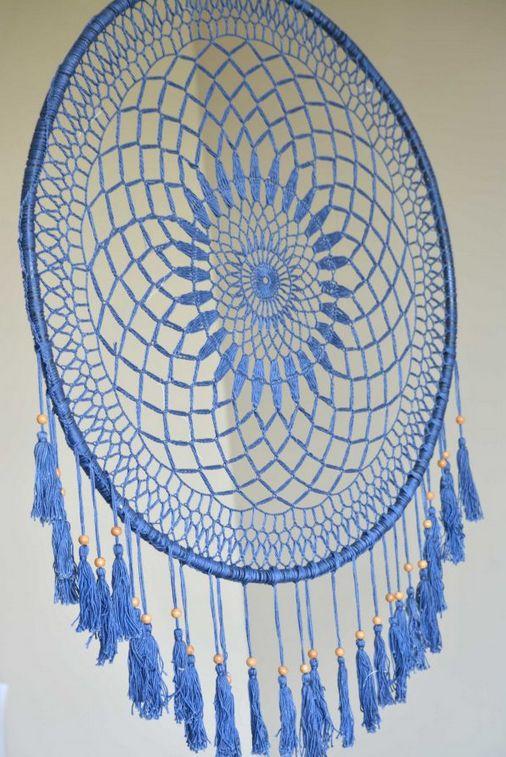 The Workroom All Blue Dream Catcher w/short hangs