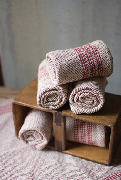Kalalou Cotton Kitchen Towel/Red
