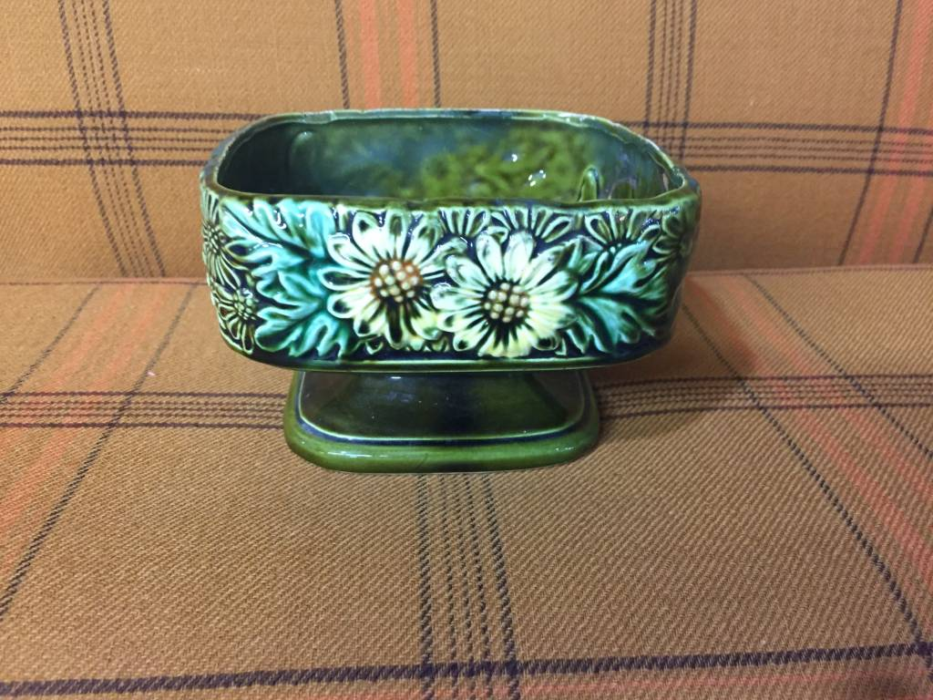Vintage Vintage Small Green Planter