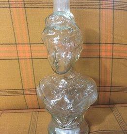 Vintage Vintage Glass Lady Bust