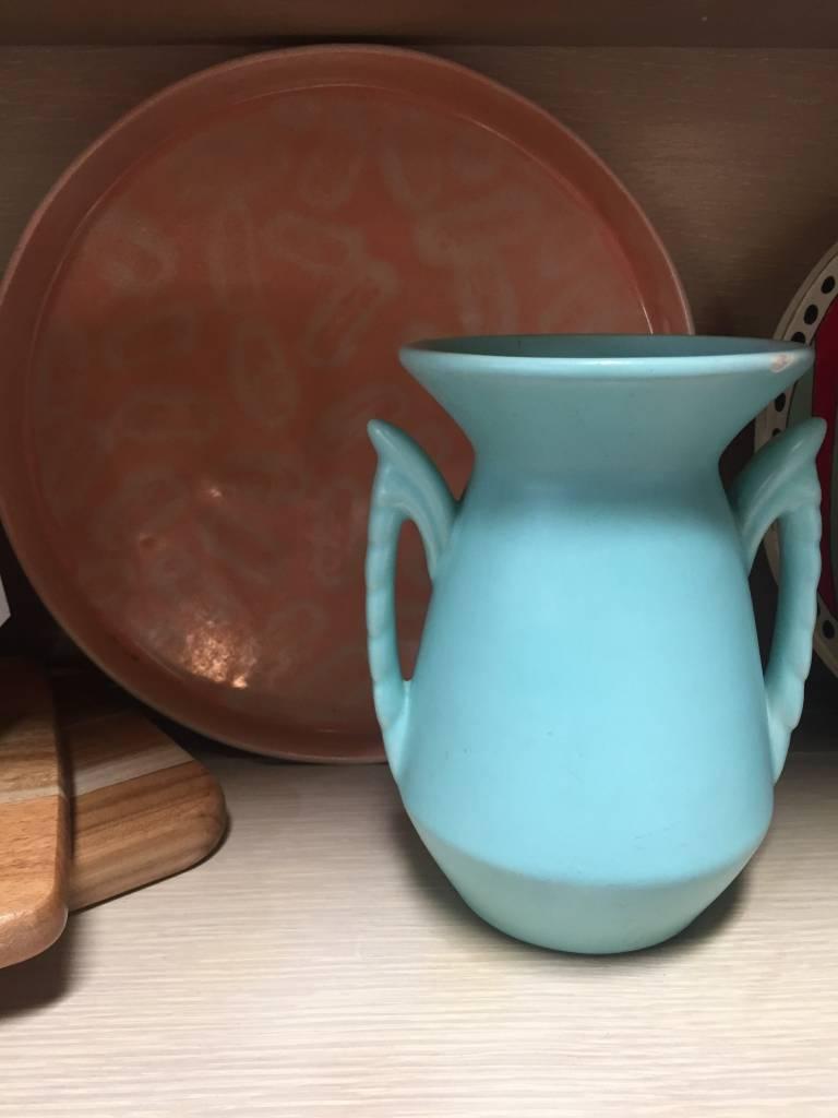 Vintage Vintage Teal Vase
