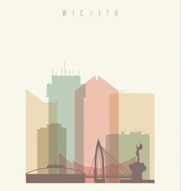 The Workroom Wichita Pastel Skyline - 11x14