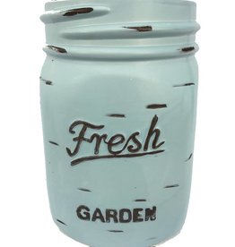 Mason Jar Pot - Blue - Large