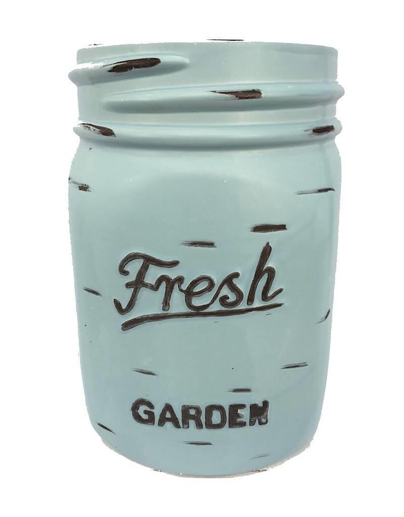 Mason Jar Pot - Blue - Large