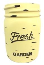 Mason Jar Pot - Yellow - Large