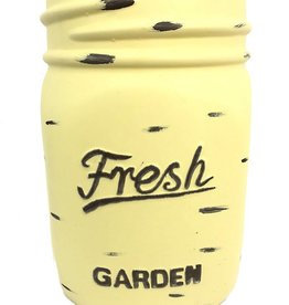 Mason Jar Pot - Yellow - Large