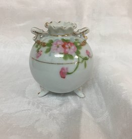 "Hand Painted Porcelain Footed Nippon Vase, 4"", L.1800's"