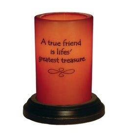 "A True Friend LastingLite Candle Sleeve (6"")"