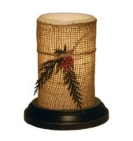 """LastingLite Natural Christmas LastingLite Candle Sleeve (6"""")"""