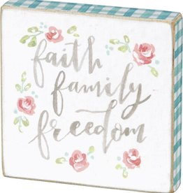 Faith, Family, Freedom Magnet, 2.5X2.5""