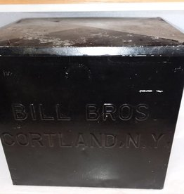 Bill Bros Porch Box, Painted Black, 11.5x8.5x10.5, c.1950