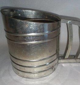"Tin Flour Sifter, 6"", 1960's"