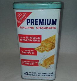 "Saltine Crackers Tin, 9.5"", 1970's"