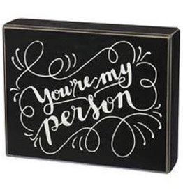 You're My Person Box Sign, 7.5x6""