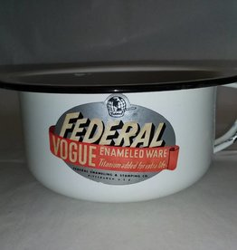 Federal Vogue White Potty Bowl, 1940's-50's, 7.5""