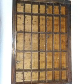 "Printer's Typesetting Tray, 35 Openings, 11 1/4x16 3/4"", 1920's"