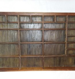 "Printer's Typesetting Tray, 24 Boxes, 10 1/2x16 3/4"", 1920's"