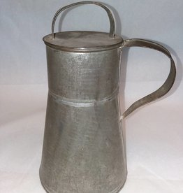 "Tapered Tin Cream Can, Repaired (AS IS), 8"", c.1870's"
