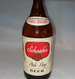 Schaefer Pale Dry Beer Bottle, 1 Quart, c.1950