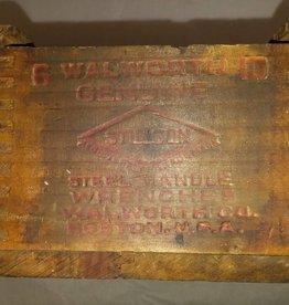 "Stillson Wrench Box, 11x4.75x3.75"", 1930's"