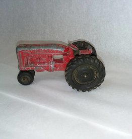 Hubley Red Kiddie Toy Tractor, Cast Aluminum, 1950's, 5.5x2.5""