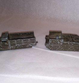 2 Army Midget Toys (Truck & Tank), c.1960