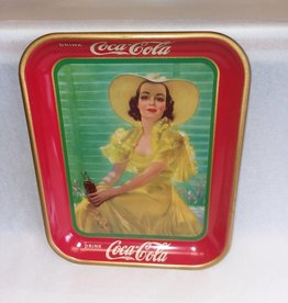 American Artworks, Inc. Girl in Yellow 1938 Coke Tray, 10.5x13.25x1.25""
